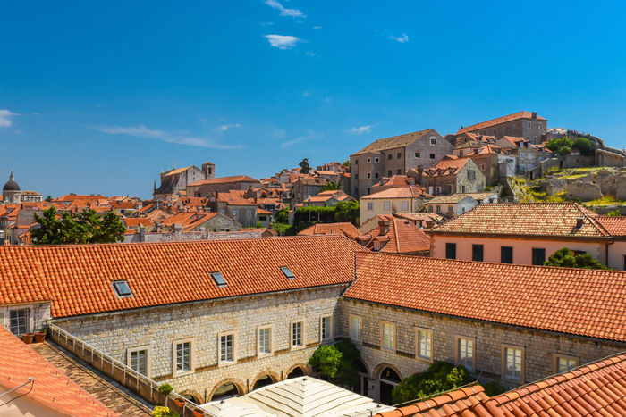 Dubrovnik, Croatia Holiday Mediterranean  Mediterranean Sea Old Town Red Roof Rooftop Adriatic Adriatic Coast Adriatic Sea Architecture Building Exterior Built Structure Coratia Day Dubrovnik No People Outdoors Roof Sky Summer Tiled Roof  Travel Destinations Tree