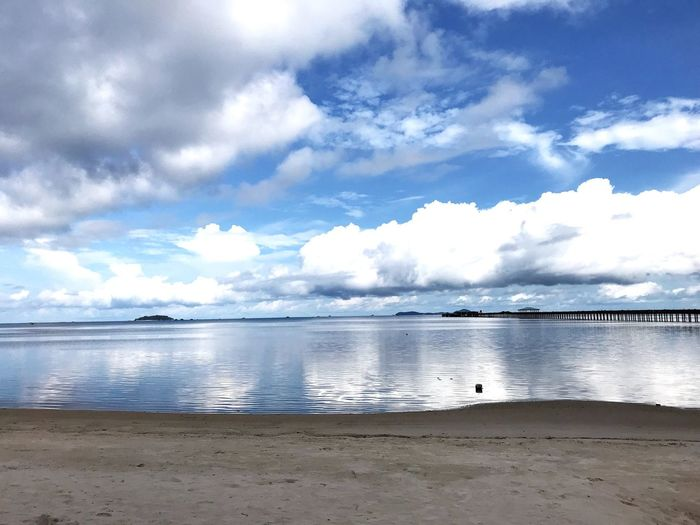 Water Sky Cloud - Sky Sea Beach Land Scenics - Nature Beauty In Nature Tranquility Sand Tranquil Scene Nature Day Idyllic Non-urban Scene Horizon Outdoors Horizon Over Water No People