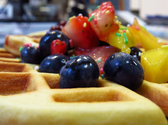 Berries Waffle Waffle Time Waffles Belgian Waffles Blueberries Blueberry Cherry Sauce Delicious Food Food And Drink Food Porn Foodphotography Foodporn Freshness Fruit Ready-to-eat Sprinkles Strawberries Strawberry Streusel Sweet Sweet Food Treat Waffles And Berries
