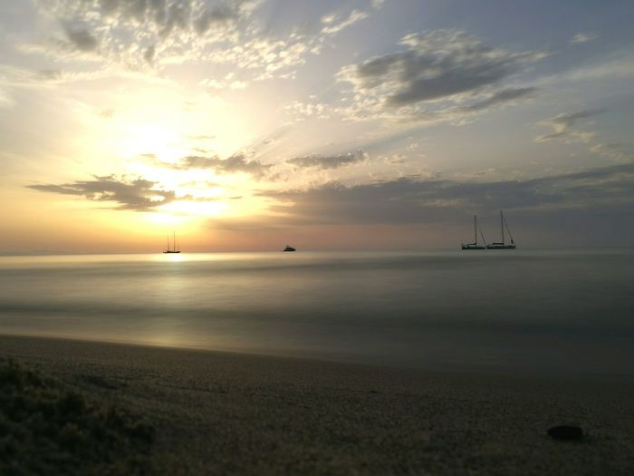 My Year My View Sea Sunset Horizon Over Water Beauty In Nature Water Nature Day Tramonto Nautical Vessel Outdoors Scenics Landscape Beach Sailing Ship Cloud - Sky No People Sailboat Sky Yachting My Year My View