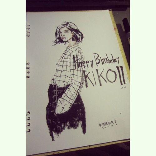 Today inktober i present it to you Kiko Mizuhara!! Dqy 15 Kiko Mizuhara Kikomizuhara Inktober doodle illustration birthday