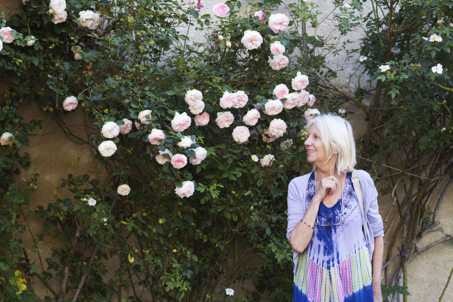 Enjoying the roses at Camon, the rose village of France Blond Hair Flower Nature One Woman Only Outdoors Petals Roses🌹 Smelling Roses