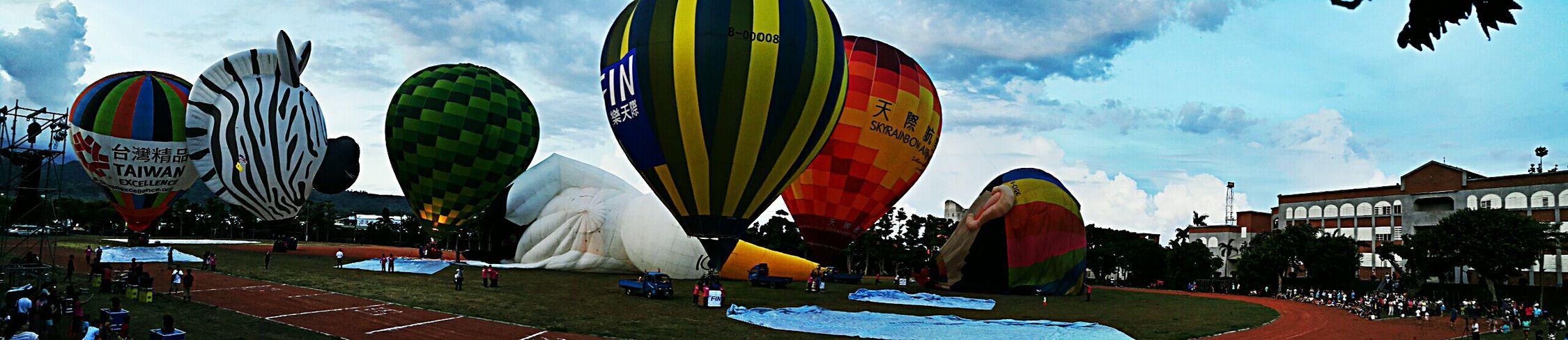 Hot Air Balloons Festival in Taitung,taiwan 光雕晚會