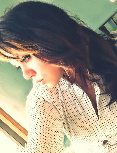 Selfie Self Portrait New Look New Hair Color :) Eyeliner Eyelashes Girl Feeling Pretty