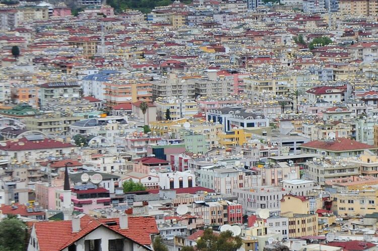 turkey alanya 14.04.2017High Angle View Building Exterior Outdoors Architecture No People Day Town Mountain Tree Cityscape Built Structure Residential Building Aerial View City Nature Beauty In Nature Sky Rofftop Urban Geometry Alanya Turkey Neighborhood Map Connected By Travel Be. Ready. Stories From The City