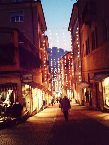 Christmas Lights On The Road Hopeing Lovelovelove
