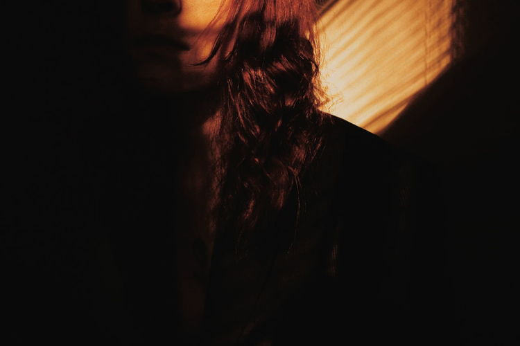 Thick Human Hand Shadow Close-up Tangled Hair Hairy  Chiaroscuro