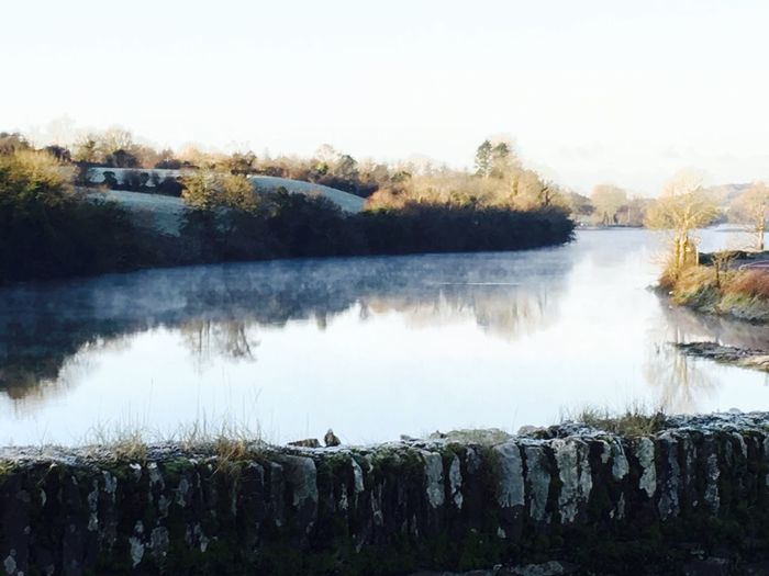 The steam on the river in this cold and frosty early morning in Skibbereen. River Ilen is dressed up in a particular way. Beautiful. Beauty In Nature West Cork, Skibbereen, Ireland West Cork Tranquility Ireland Beautiful Nature River Riverside Frosty Frosty Mornings Steam Steamonriver