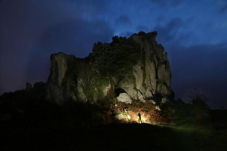 Landscape Megaliti Argimusco Nature Night Silhouette Sky Tree