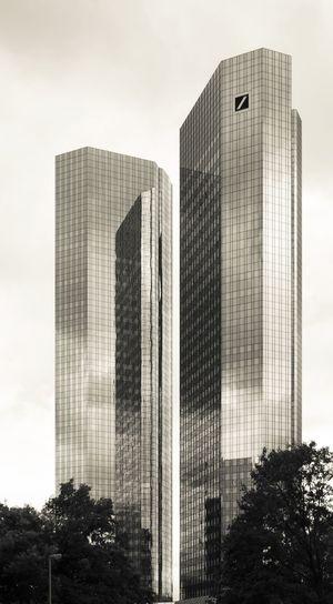 Architecture Deutsche Bank Reflection Blackandwhite Building Building Exterior Inversion No People Skyscraper