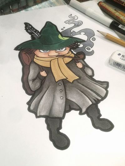 Nuuskamuikkunen Copic Marker Drawing Sketch Sketchbook Snufkin