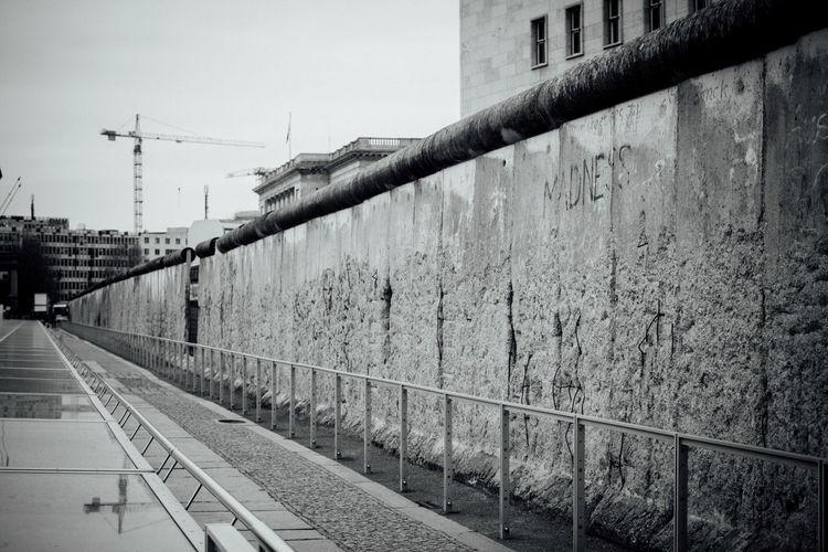 Berlin wall in city