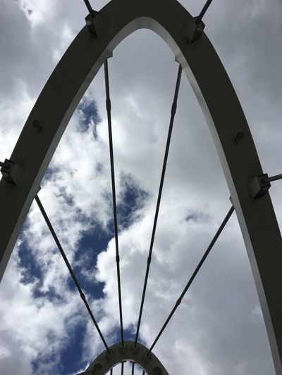 Man Made Beauty Bridge Over Water Low Angle View Cloud - Sky Sky Built Structure Architecture Arch No People Outdoors Day