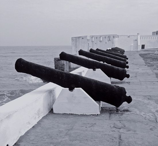 History Cape Coast Cannon Ghana Blackandwhite