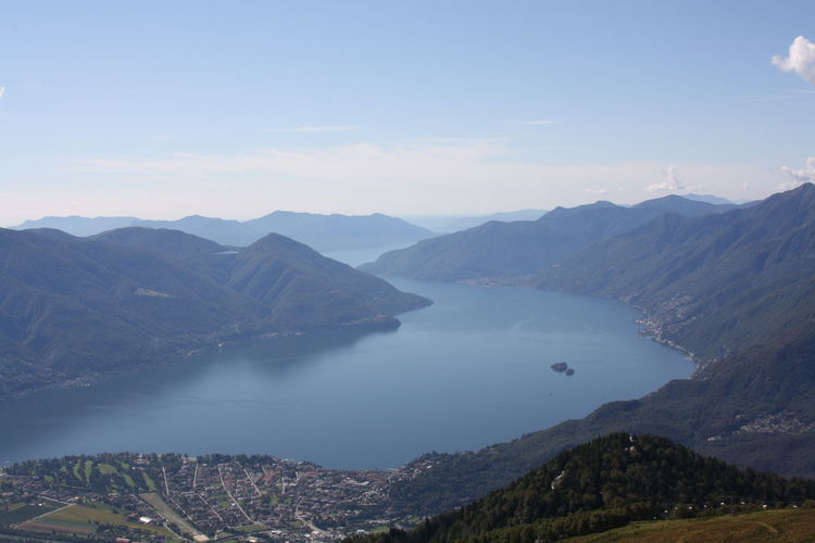Betterlandscapes Mountain Scenics - Nature Beauty In Nature Tranquil Scene Sky Water Mountain Range Tranquility Environment Non-urban Scene Nature Landscape Cloud - Sky Idyllic No People Lake Day Outdoors Travel Destinations Lago Maggiore