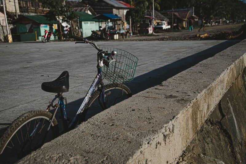 Bicycle by road in city