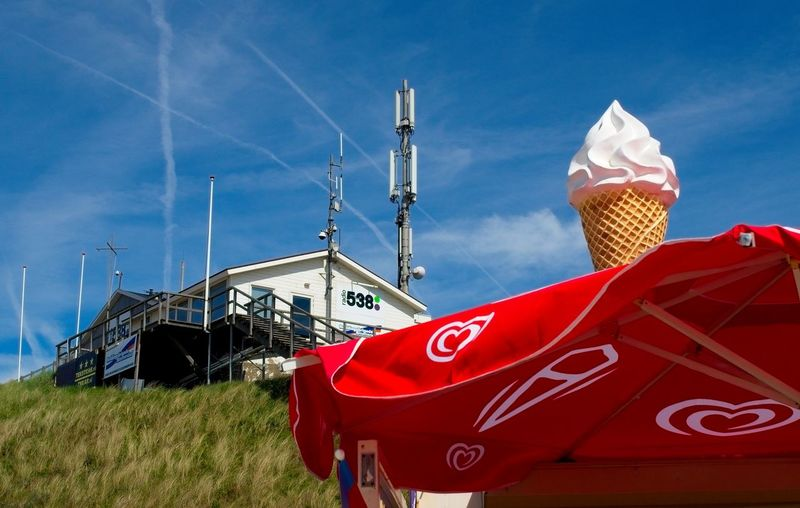 Antenna Blue Building Exterior Dunes Icecream No People Outdoors Sky