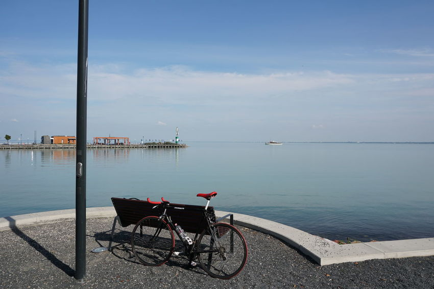 Bike Tour Bike Trip Architecture Beauty In Nature Bike Built Structure Day Mode Of Transport Nature Nautical Vessel No People Outdoors Scenics Sea Sky Transportation Water