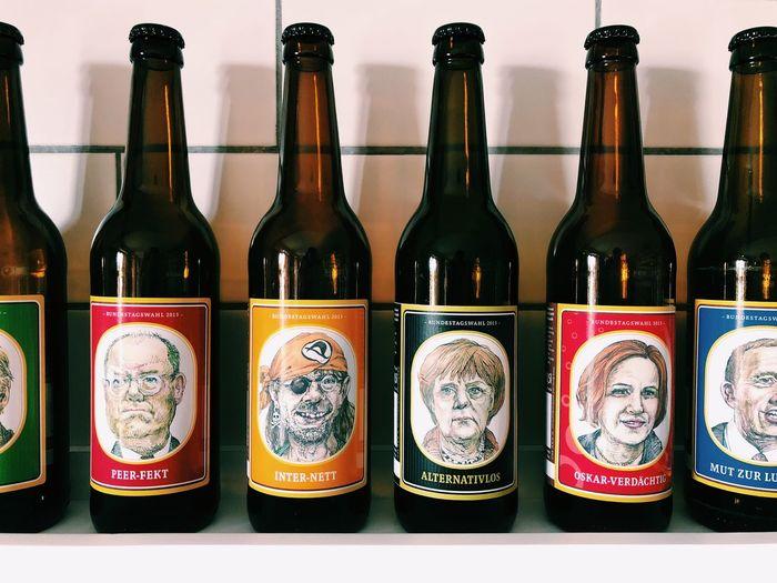 Politiker Angela Merkel Bierflasche Merkel Bottle Refreshment Alcohol Container Drink Wine Bottle Wine Food And Drink