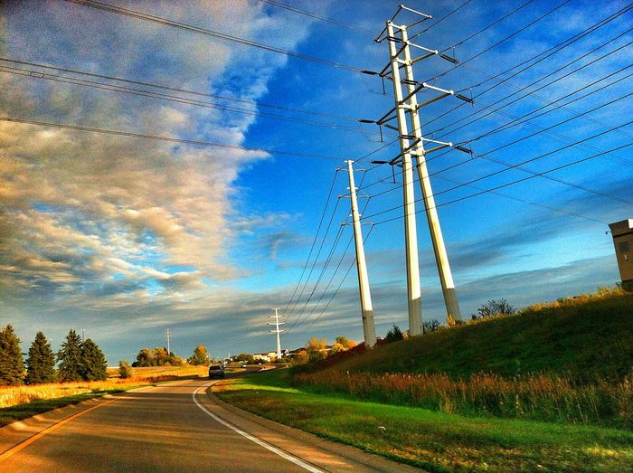 Powerlines Sky And Clouds Cityscapes Urban Photography Urban Landscape Twincities Landscapes Urbanscape Something Blue Urbanphotography Afternoon Blues Light And Shadow Minneapolis Urban Geometry Looking Up