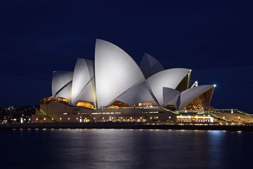 The Sydney Opera House Australia Sydney Opera House Architecture Building Exterior Built Structure Cityscape Illuminated Night No People Travel Destinations Water