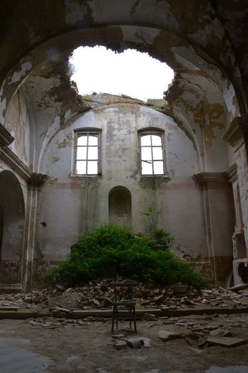 Architecture Built Structure Arch Building Abandoned Day History The Past Damaged Old Run-down Window Building Exterior Place Of Worship Outdoors Weathered Deterioration Plant Ruined No People