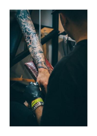 Human Hand Low Section Men Human Leg Tattoo Limb Close-up