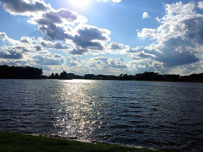 Clouds Lake Water Blue Sky Sky Likeforlike Followme Like Follow Follow4follow Like4like Blue Wave