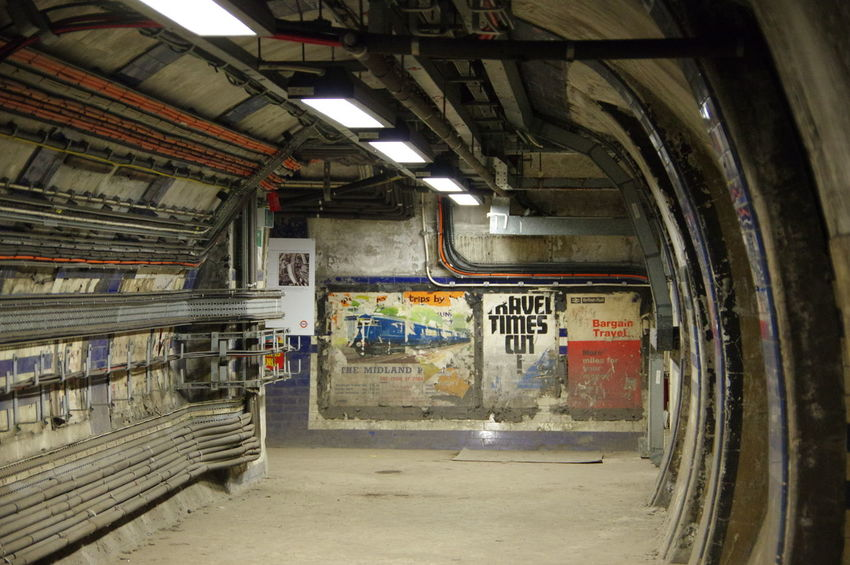 Abandoned Architecture Back To The Future Cable Day Faded Poster Hidden London Indoors  No People Tunnel Underground
