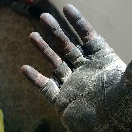 Work Hard - Play Hard Human Hand Human Body Part Dirty Hand Dirty Hand Dirty Dress Gloves One Glove Fingers Dirty Fingers