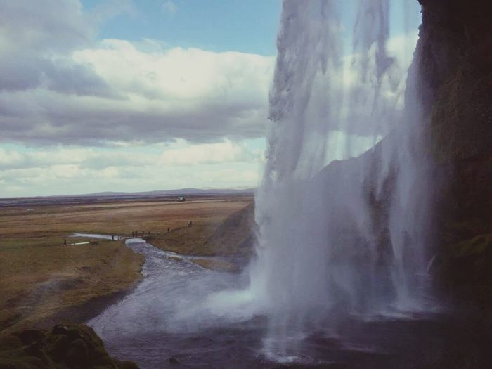 Water Nature Sky Beauty In Nature Motion Power In Nature Waterfall Cloud - Sky Behind EyeEmNewHere EyeEmNewHere
