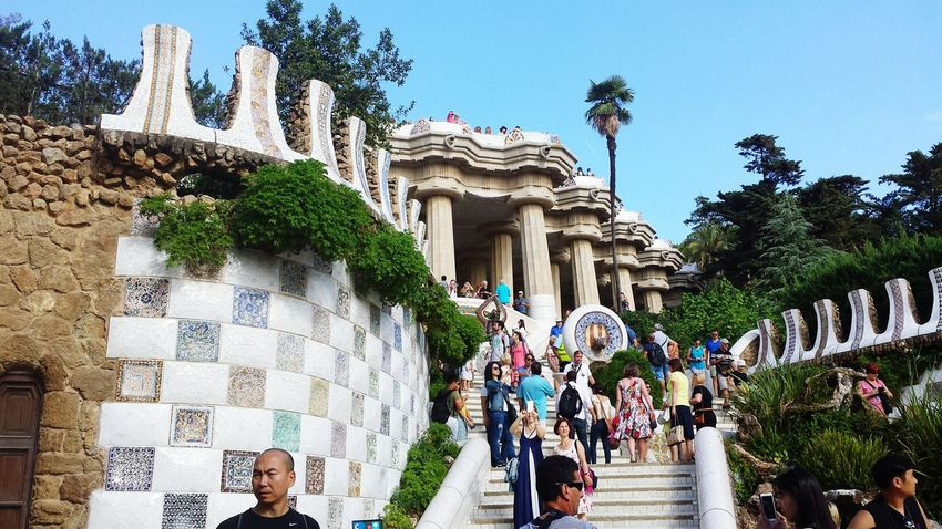 Park Guell Barcelona Wow! Taking Photos Enjoying This Beautiful Wheather Beautiful Day Relaxing View Have A Lot Of Fun  Hello World Kunterbunt