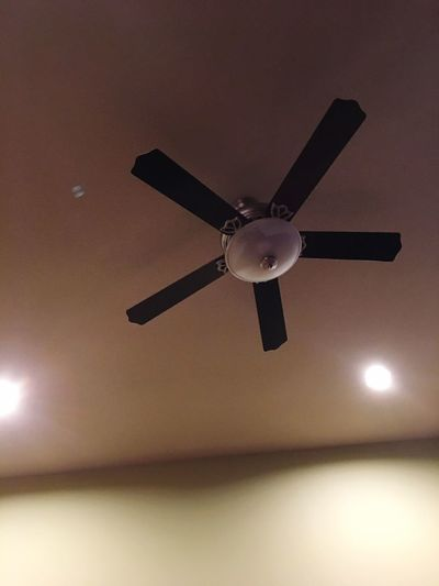 Ceiling Fan Electric Fan Low Angle View Electricity  Ceiling Fan Indoors  Directly Below Home Interior Technology No People Illuminated