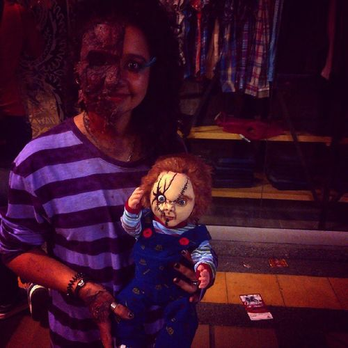 Mi hijo *-* jajaja Chuky Instagirl Zombie Halloween hijo disfraz