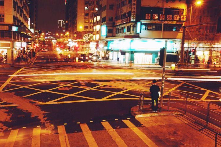 香港 马路 手机合成 延时摄影 夜景 Light