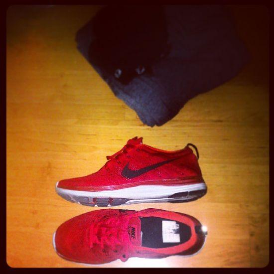 Nikes for the win. Jogging at Woodlands Stadium later. NikeRun Irun