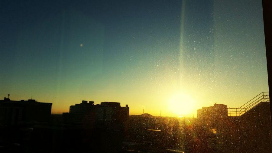 Sunrise over the bay. Cardiff Sunrise Cardiff Bay