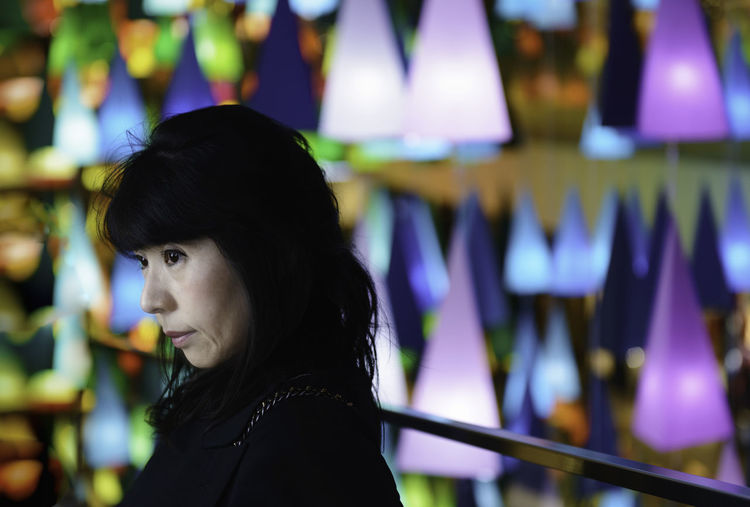 One Person Headshot Focus On Foreground Looking Leisure Activity Portrait Side View Hair Real People Looking Away Young Adult Indoors  Lifestyles Black Hair Hairstyle Young Women Adult Long Hair Contemplation Beautiful Woman