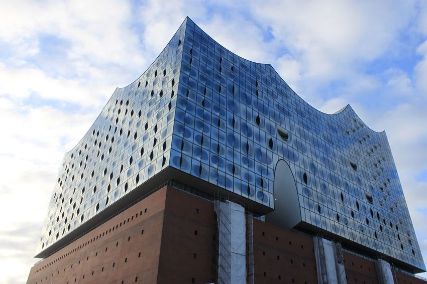Architecture Boyanghuangausnanchang Building Cloud - Sky Cloudy Day Elbphilharmonie Germany Glass - Material Hamburg Reflection Sky