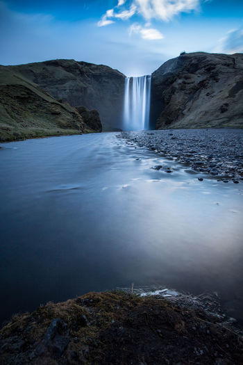 Beauty In Nature Day Iceland Long Exposure Long Exposure Shot Motion Nature No People Outdoors Scenics Sky Tranquil Scene Water Waterfall