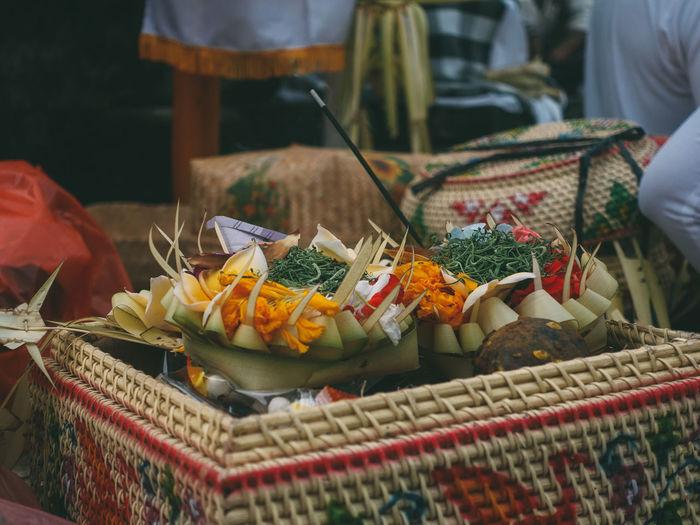 Close-up of spirit in bali cultural