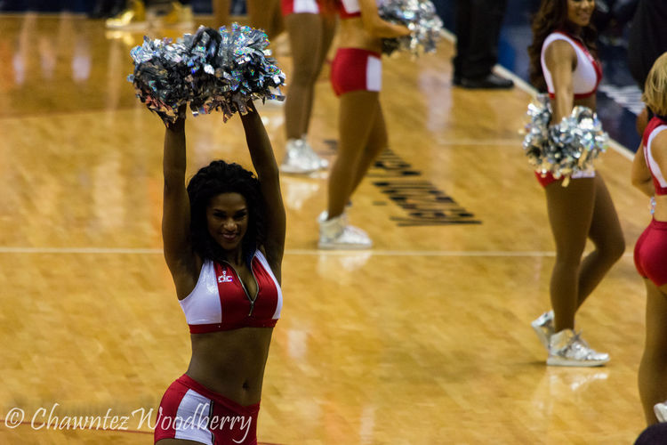 More pictures from the Wizards Game be found on my Flickr here. https://m.flickr.com//photos/129526757@N08/more/ Cheerleading Cheerleaders  Pretty Girl Pom Poms Wizards Girls Professional Cheerleaders Washington Wizards Washington Wizards Game