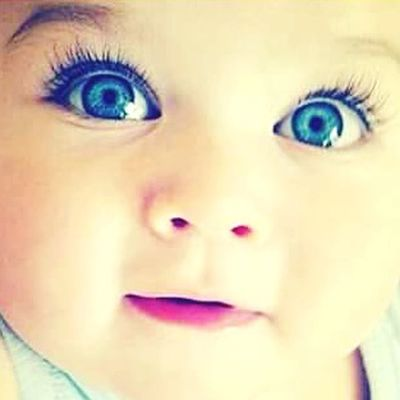 Baby ❤ Cute♡ Blue Eyes Hello World