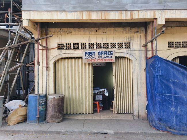 Street Shop Civilisation Coron Town Coron, Palawan Post Office Architecture Built Structure Building Exterior