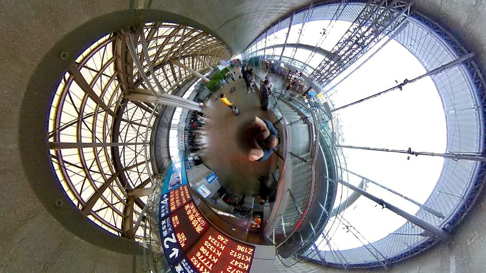 Built Structure Day Architecture Indoors  Fish-eye Lens Clock No People Clock Face Nankin Railway Station Railwaystation China China Photos 3D Art 3D Photo