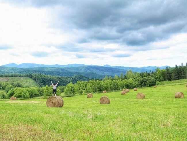 私 登ってみたよ🙌 Cloud - Sky Nature Outdoors Landscape Rural Scene Sky Beauty In Nature EyeEm Selects EyeEmNewHere 田舎暮らし Black_chica1707 Rural Area Hokkaido,Japan 自然 Hokkaido Landscape_photography Rural Landscape Chica's Sky 空 Grass Japan