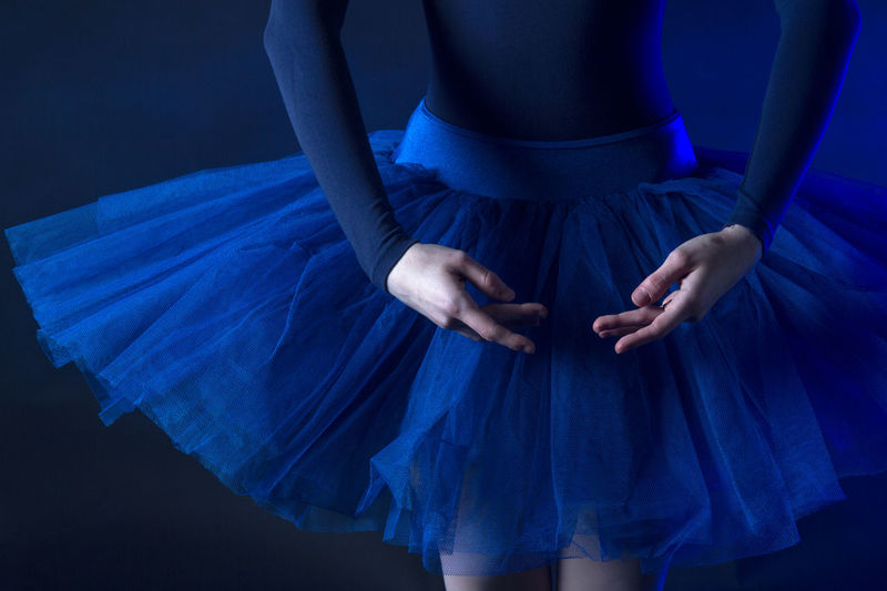 Ballerina Hands Adult Ballet Ballet Pose Blue Day Front View Human Hand Indoors  Lifestyles Midsection One Person People Real People Standing Tutu Women Young Adult Young Women