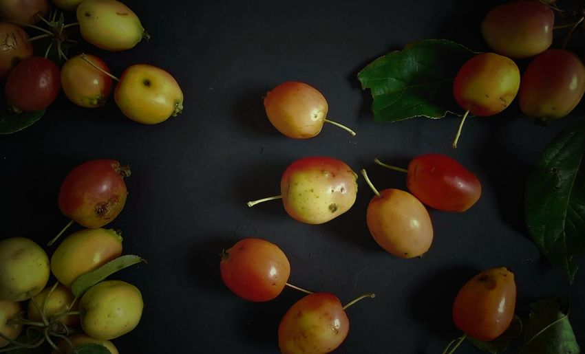 High angle view of apples