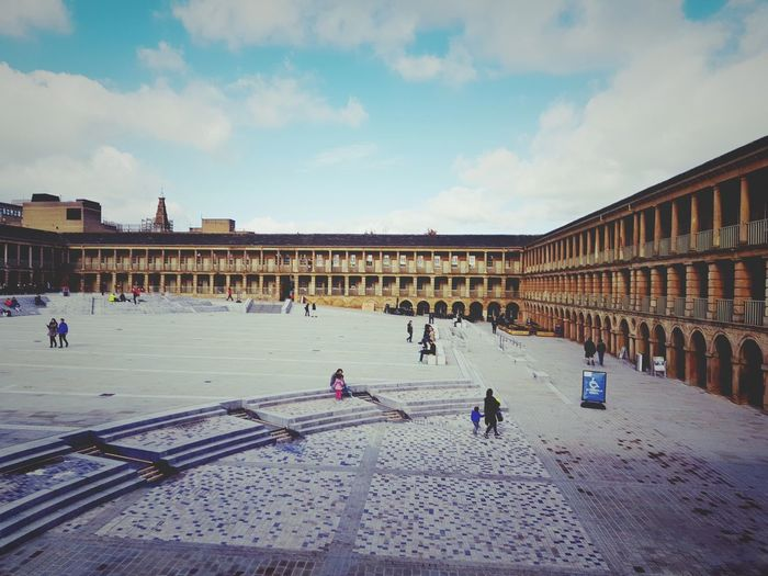 Piece hall Architecture Large Group Of People Built Structure Building Exterior Sky Cloud - Sky Outdoors People Day City Handloom Weaving Cloth Hall Historical Site Historical Building