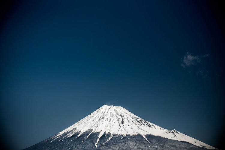 Mt.Fuji with clear blue sky. ASIA Background Beauty In Nature Blue Blue Sky Clear Sky Day Japan Landscape Landscape_Collection Landscapes Minimalism Mountain Mountains Mt.Fuji Mt.Fuji, Nature No People Outdoors Scenics Shizuoka Sky Tranquility Travel, Wallpaper